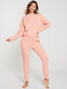 calvin-klein-lounge-joggers-coral-pink