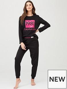 calvin-klein-long-sleeve-pyjama-set-black