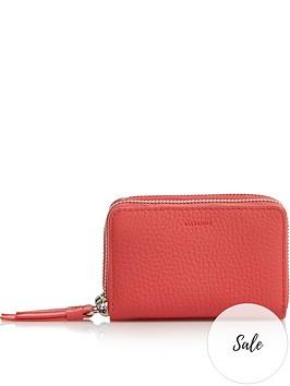 allsaints-fetch-zip-around-card-holder-purse-coral