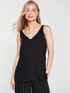 wallis-v-neck-caminbsptop-black