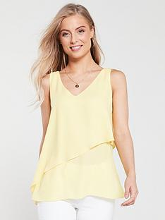 wallis-asymmetricnbspfrill-camisole-yellow