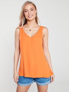 wallis-v-neck-cami-top-orange