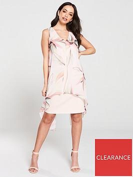 wallis-vivid-bloom-split-front-dress-blushnbsp