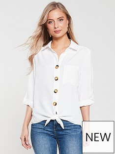 wallis-linen-look-cloth-shirt-ivory