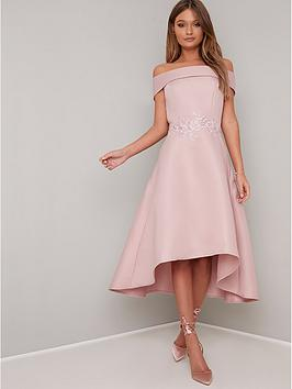 chi-chi-london-evelyn-bardot-dress-pink