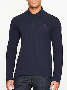 belstaff-logo-embroidered-long-sleeve-polo-shirt-navy