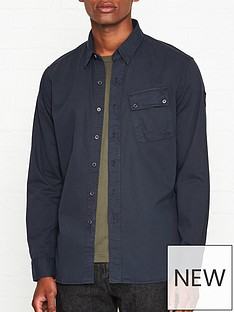 belstaff-pitch-oxford-shirt-navy