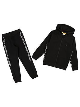 boss-boys-zip-through-pique-logo-tracksuit-black