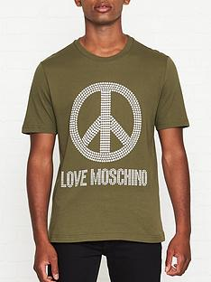 love-moschino-studded-peace-sign-t-shirt