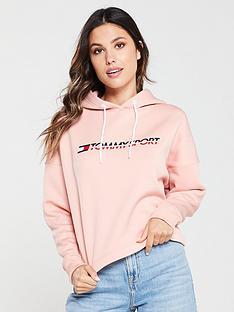 tommy-hilfiger-cropped-fleece-hoodie-pink