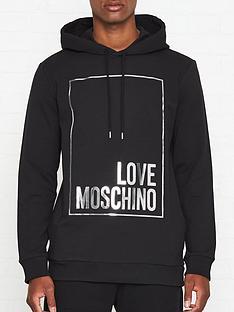 love-moschino-foil-print-box-logo-overhead-hoodienbsp--black