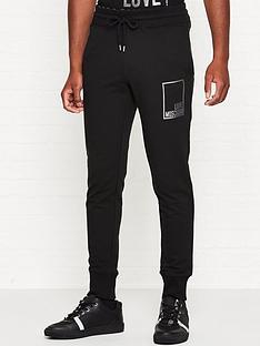 love-moschino-silver-box-logo-slim-fit-joggers-black