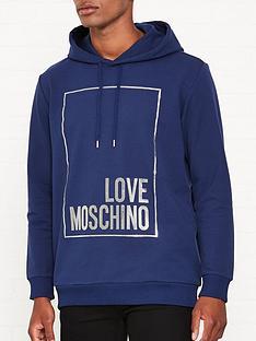 love-moschino-foil-print-box-logo-overhead-hoodienbsp--blue