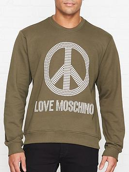 love-moschino-studded-peace-sign-sweatshirt-khaki