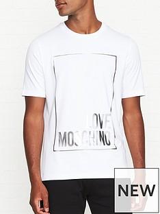 love-moschino-silver-foil-box-logo-print-t-shirt