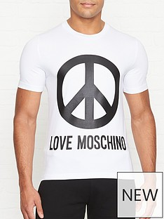 love-moschino-peace-logo-print-slim-fit-t-shirt-white