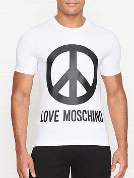 love-moschino-peace-logo-print-slim-fit-t-shirt-white