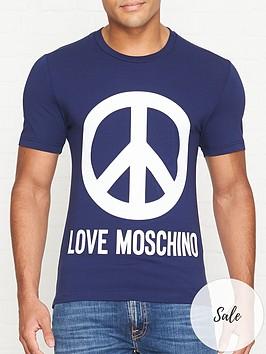 love-moschino-peace-logo-print-slim-fit-t-shirt