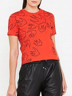 mcq-alexander-mcqueen-swallow-print-t-shirt-red