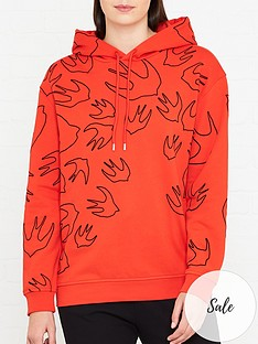 mcq-alexander-mcqueen-swallow-print-hoodie-red