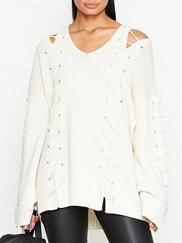 mcq-alexander-mcqueen-off-shoulder-lace-up-wool-jumper-cream