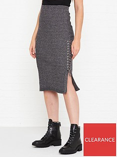 mcq-alexander-mcqueen-lace-up-knitted-midi-skirt-grey