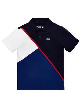 lacoste-sports-boys-short-sleeve-colour-block-polo-shirt-navy