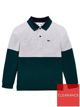 lacoste-boys-long-sleeve-colour-block-pique-polo-shirt-multi