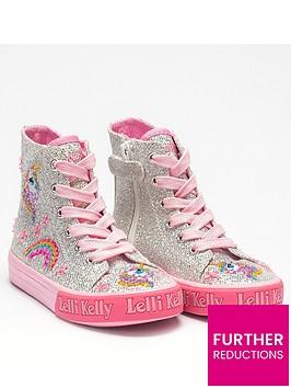 lelli-kelly-girls-abigail-unicorn-hi-top-plimsolls-silver-glitter