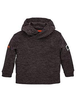 regatta-childrens-keyon-marl-fleece-hoodie-black
