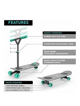 Morfboard Morf Board Skate N Scoot Combo - Mint