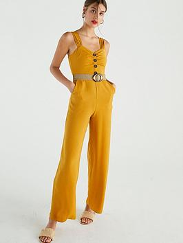 v-by-very-belted-straight-leg-jumpsuit-ochre