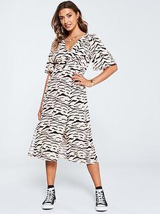 v-by-very-button-kimono-dress-zebra-print