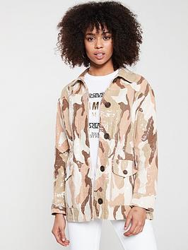 river-island-river-island-sequin-camo-print-army-jacket-sand