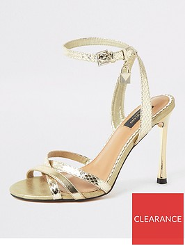 river-island-river-island-wide-fit-strappy-heeled-sandals-gold