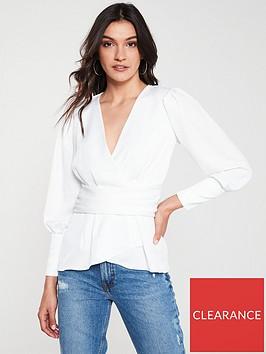 river-island-river-island-long-sleeved-wrap-blouse-white