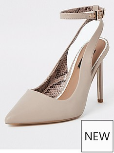 ff3789f1e9 River Island River Island Wide Fit Ankle Strap Court Shoe - Light Pink