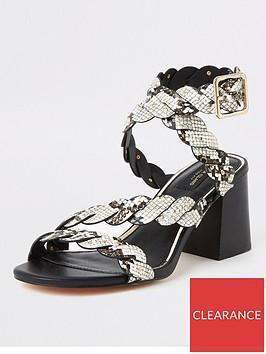 river-island-river-island-wide-fit-animal-print-block-heel-sandals-black