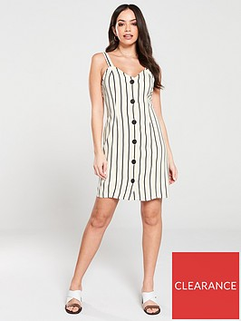 river-island-river-island-bow-back-stripe-linen-dress-stone