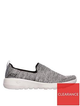 skechers-wide-fit-gowalk-joy-enchant-plimsolls-grey