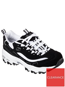 skechers-wide-fit-dlites-biggest-fan-trainers-blackwhite