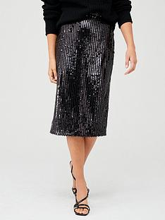 v-by-very-sequin-stripe-midi-skirt-black