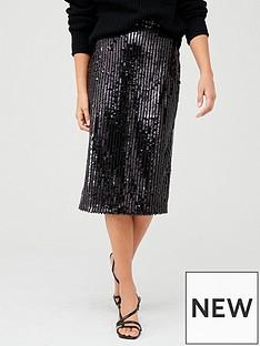 v-by-very-sequin-stripe-midi-skirt-black