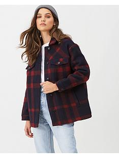 v-by-very-check-print-lumberjack-shacket-navyred