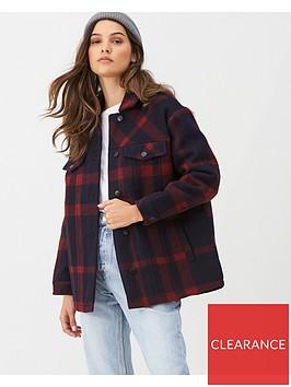 v-by-very-check-print-lumberjack-shacket-navyred