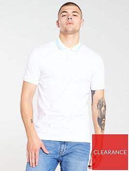 very-man-colour-block-collar-polo-shirt-white