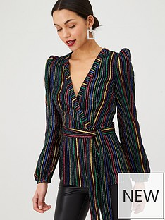 v-by-very-rainbow-wrap-blouse-stripe