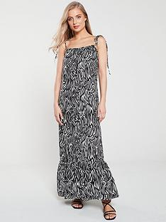 warehouse-warehouse-zebra-tie-shoulder-maxi-beach-dress