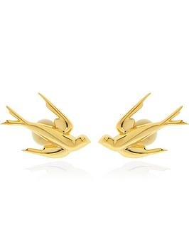 mcq-alexander-mcqueen-swallow-stud-earrings-gold