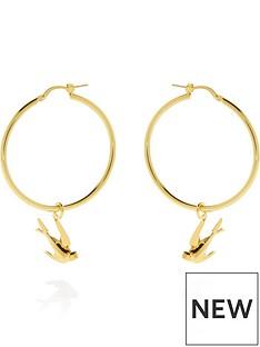 mcq-alexander-mcqueen-swallow-hoop-earrings-gold